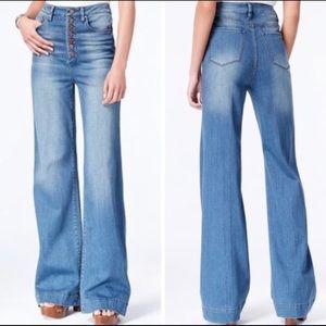 Rachel Roy HR Button Up Flare Jean